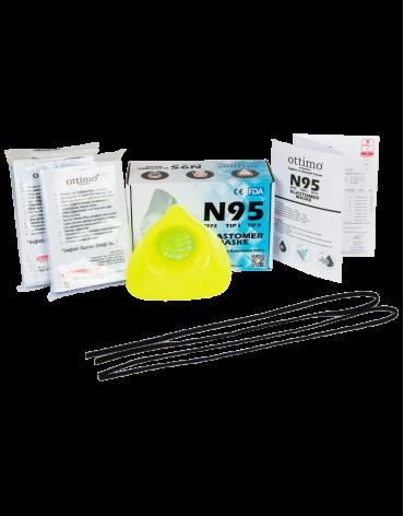N95 Elastomer Neon Yellow Mask
